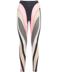 Mugler Spiral Panels Leggings - Multicolour