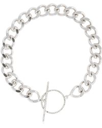 Isabel Marant - Chain Necklace W/ Crystal Toggle - Lyst