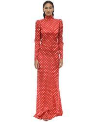 Alessandra Rich Платье Из Атласа - Красный