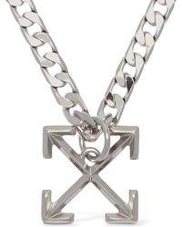 Off-White c/o Virgil Abloh Collar De Metal Con Logo - Metálico