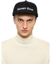 Undercover Embroidered Cotton Canvas Baseball Hat - Black