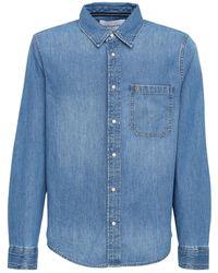 Calvin Klein Рубашка Из Хлопкового Деним - Синий