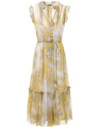 Zimmermann Платье Из Шифона С Принтом - Многоцветный