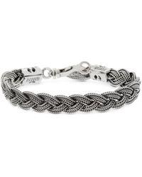 Emanuele Bicocchi Flat Braided Chain Bracelet - Metallic