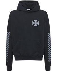 Rhude Klassischer Baumwoll-hoodie - Schwarz