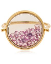 Aurelie Bidermann - Chivor Bague Sapphire Rose Gold Ring - Lyst
