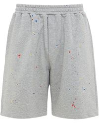 LC23 Hand Painted Cotton Blend Shorts - Grey