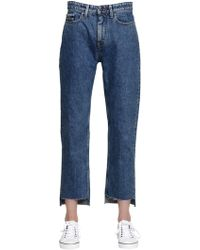 Calvin Klein Jeans   Mid Rise Straight Step Hem Denim Jeans   Lyst