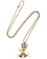 Alcozer & J Frog Prince Necklace - Metallic