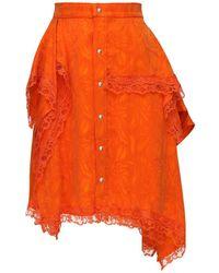 Koche ジャガードスカート - オレンジ