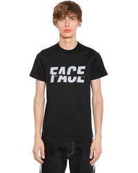 Facetasm T-shirt Aus Baumwolljersey Mit Gesichtsdruck - Schwarz