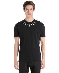 Neil Barrett - Bolts Printed Cotton Jersey T-shirt - Lyst