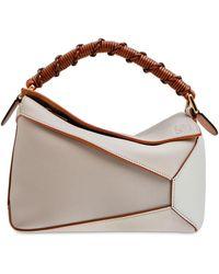 Loewe Small Puzzle Edge Top Handle Bag - Brown