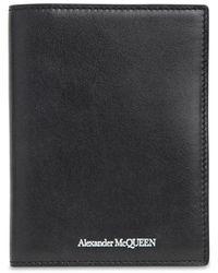 Alexander McQueen Кожаная Обложка На Паспорт С Логотипом - Черный