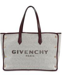 "Givenchy Medium Tote Aus Canvas ""bond"" - Natur"