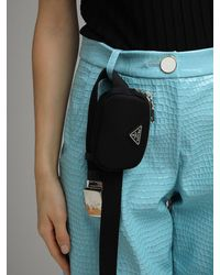 Prada Nylon Pocket Belt Bag - Черный