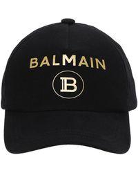 Balmain - コットンキャンバスキャップ - Lyst