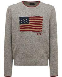 Polo Ralph Lauren - American Flag ウールブレンドニットセーター - Lyst