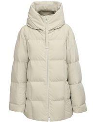 Jil Sander Oversize Hooded Nylon Down Jacket - Grey