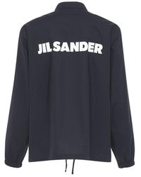 Jil Sander コットンポプリンシャツジャケット - ブルー