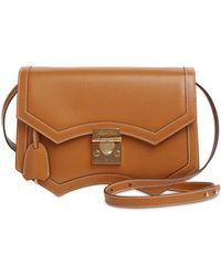 Mark Cross Madeline Grained Leather Shoulder Bag - Brown
