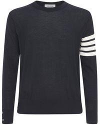Thom Browne メリノウールニットセーター - ブルー