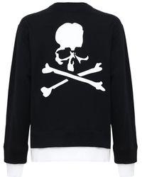 MASTERMIND WORLD レイヤードコットンスウェットシャツ - ブラック