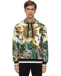Dolce & Gabbana Худи С Принтом Tropical King - Зеленый