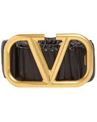 Valentino Garavani Кожаный Ремень 4cm - Черный