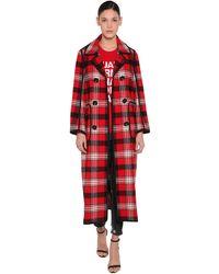 DSquared² Двубортное Шерстяное Пальто - Красный