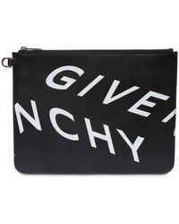 Givenchy Клатч Из Кожи С Принтом - Черный