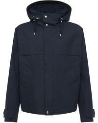 AMI Куртка Из Хлопковой Парусины С Капюшоном - Синий