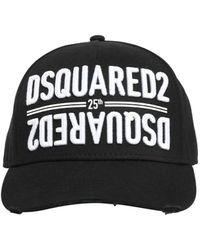 """DSquared² - Бейсбольная Кепка Из Канвас С Вышивкой """"icon"""" - Lyst"""