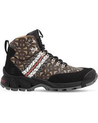 Burberry Ботинки Из Нейлона 40мм - Коричневый