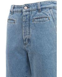Loewe - Fisherman Turnup Cotton Denim Jeans - Lyst