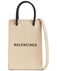 Balenciaga - Shopping レザースマートフォンホルダーバッグ - Lyst
