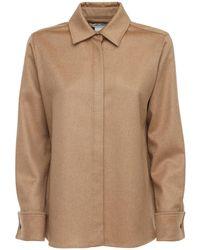 Max Mara Фланелевая Рубашка Из Верблюжей Шерсти - Естественный