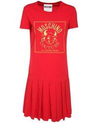 Moschino Платье Из Хлопкового Джерси - Красный