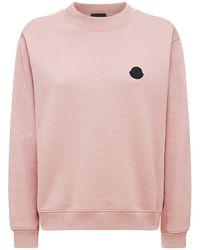 Moncler コットンフリーススウェットシャツ - ピンク