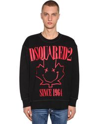 DSquared² コットンジャージー スウェットシャツ - ブラック