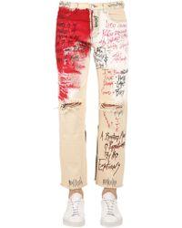 Faith Connexion - Graffiti Destroyed Denim Jeans - Lyst