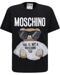 Moschino - T-shirt In Cotone Ricamo Logo - Lyst