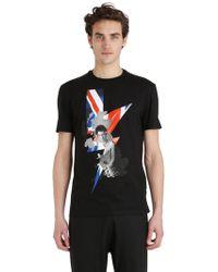 Neil Barrett - T-shirt Aus Jersey Mit Sid Vicious-druck - Lyst