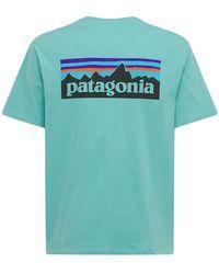 Patagonia Camiseta De Algodón Orgánico Logo M's P-6 - Azul