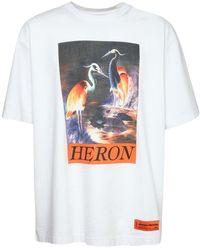 Heron Preston Футболка Из Хлопкового Джерси С Принтом - Белый