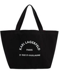 Karl Lagerfeld 'K/Rue St-Guillaume' Shopper - Schwarz