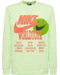 """Nike T-shirt Imprimé """"world Tour"""" - Jaune"""