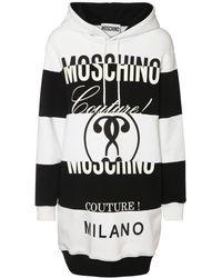 Moschino Платье Из Хлопкового Джерси - Черный