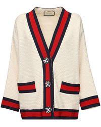 Gucci Oversize Tweed Cardigan Jacket - White