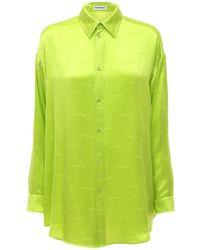 Balenciaga ジャカードシルクシャツ - グリーン